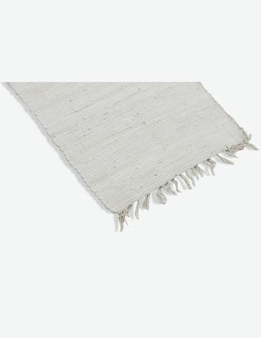 Mindi - Teppich mit Fransen - weis
