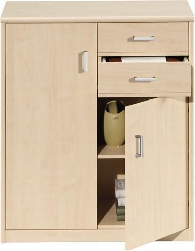 kommode mit 2 t ren und 2 schubladen. Black Bedroom Furniture Sets. Home Design Ideas