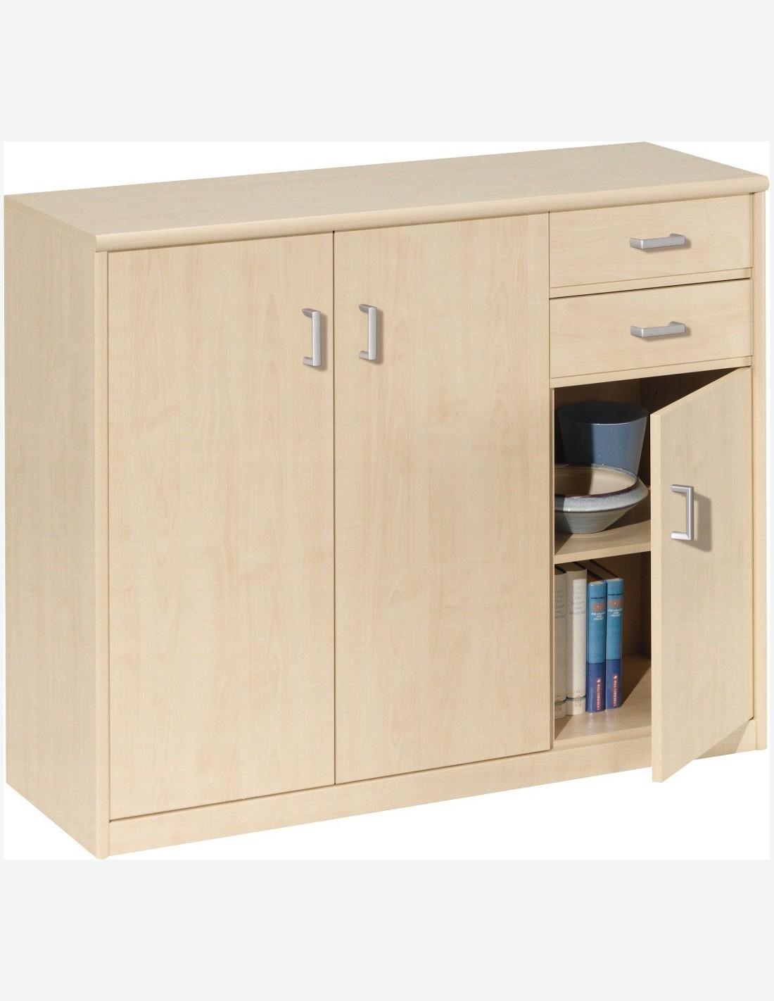kommode mit 3 t ren und 2 schubladen. Black Bedroom Furniture Sets. Home Design Ideas