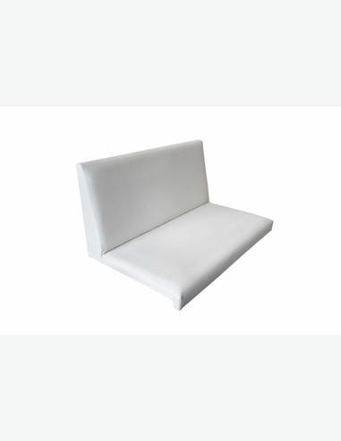 sitzkissen mit r ckenlehne aus kunstleder. Black Bedroom Furniture Sets. Home Design Ideas