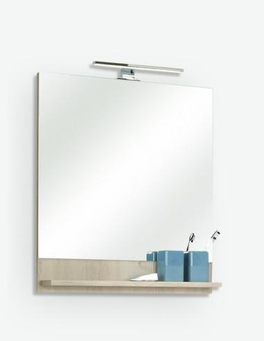 Julian - Specchio in imitazione di pino chiaro