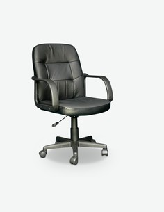 Comodi - Bürostuhl in Kunstleder, schwarz