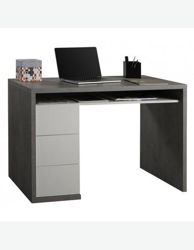 schreibtisch beton wei hochglanz dekor. Black Bedroom Furniture Sets. Home Design Ideas