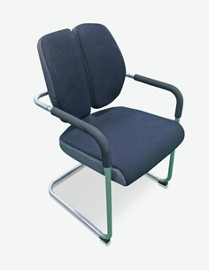 Midor - Stuhl mit Rückenlehnze schwarz
