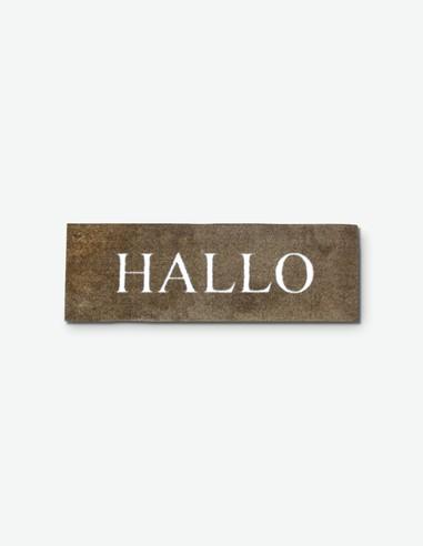 Hallo - Fußmatte  in verschiedenen Designs - braun/weis