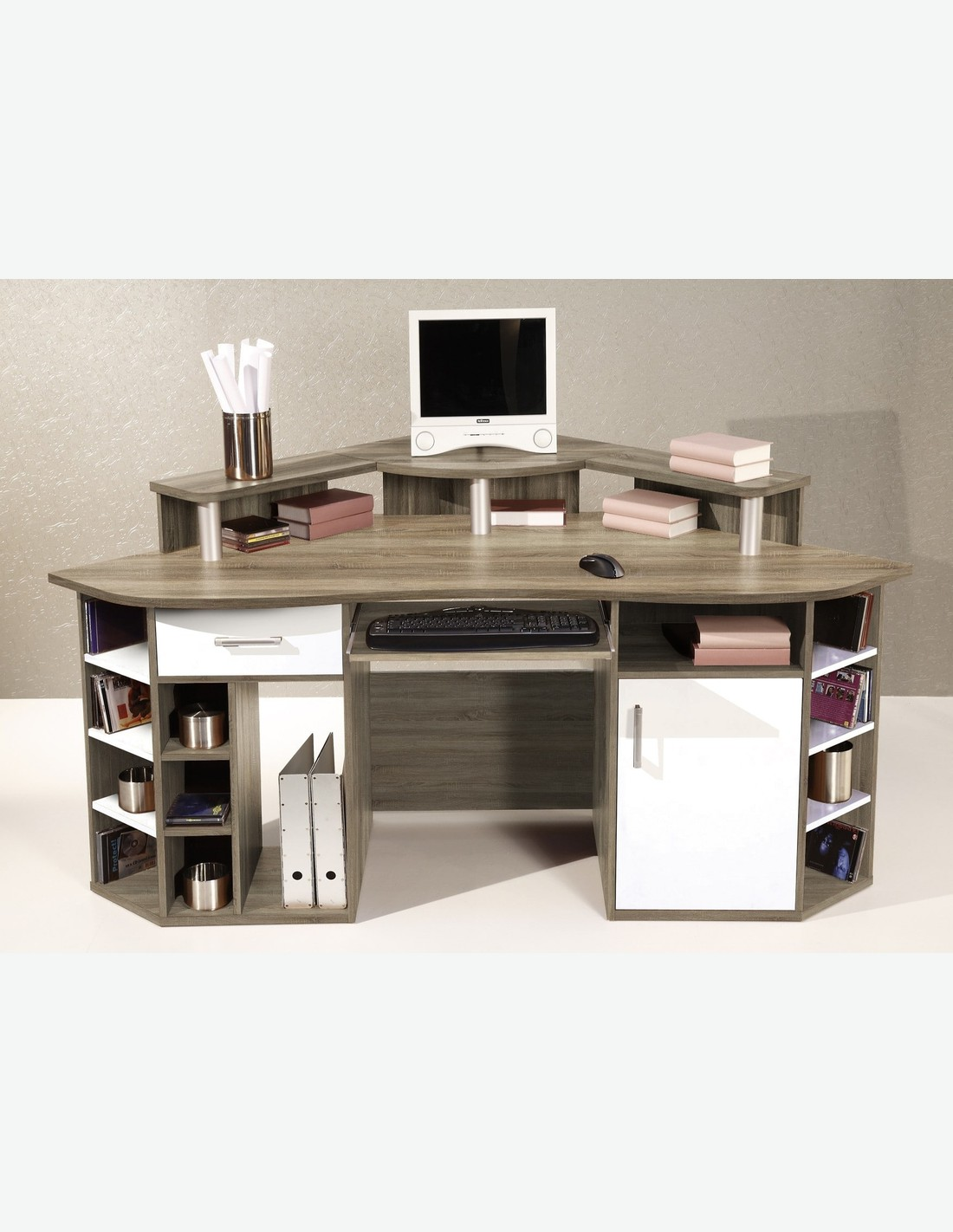 jumbo scrivania ad angolo scrivania ad angolo in legno ca 130x95x130cm ...