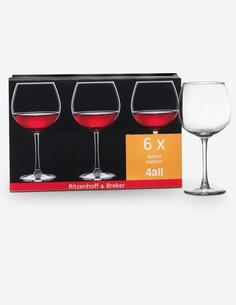 Roma - Set da 6 bicchieri da vino rosso, 43cl