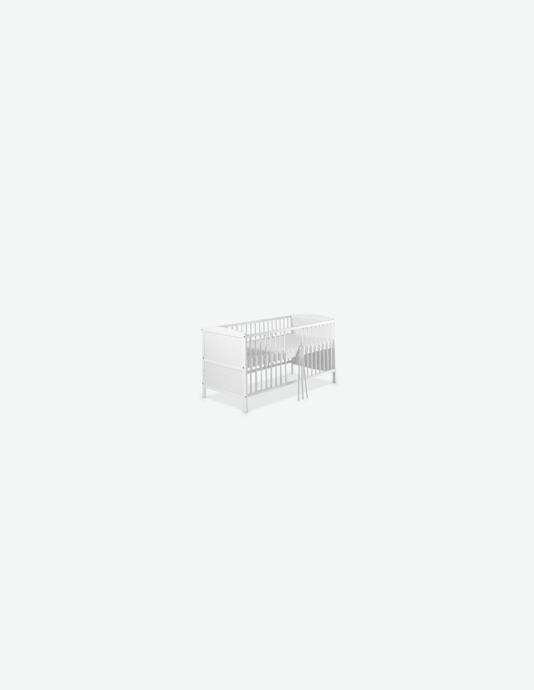 komplettbett wei inkl bett set matratze und himmelstange. Black Bedroom Furniture Sets. Home Design Ideas