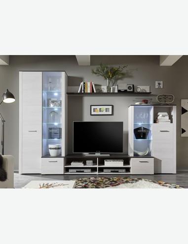 Dago   Moderne Wohnwand   Bietet Viel Stauraum   LED Beleuchtung Inklusive    Frontansicht
