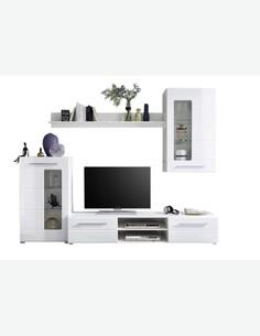 Enrico - Wohnwand im klaren, modernen Stil - Frontansicht