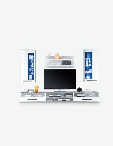 Alima - Zeitlos modernes Stauraumelement - jung und stilvoll - LED Beleuchtung inklusive - Frontansicht