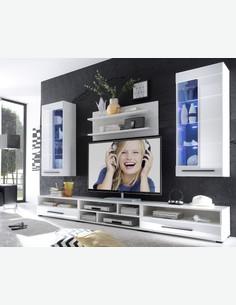 Alima - Zeitlos modernes Stauraumelement - jung und stilvoll - LED Beleuchtung inklusive