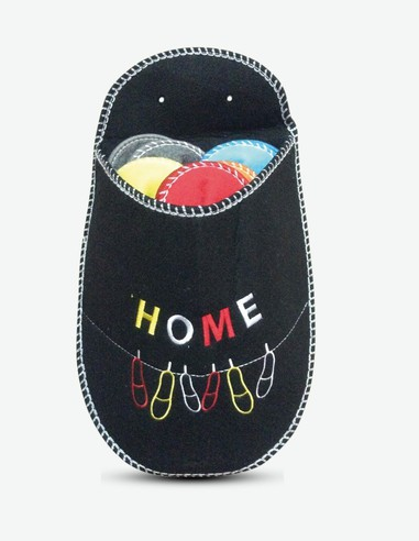 Guest - Gästehausschuhe, 5 Paar - in verschiedenen Farben verfügbar - schwarz
