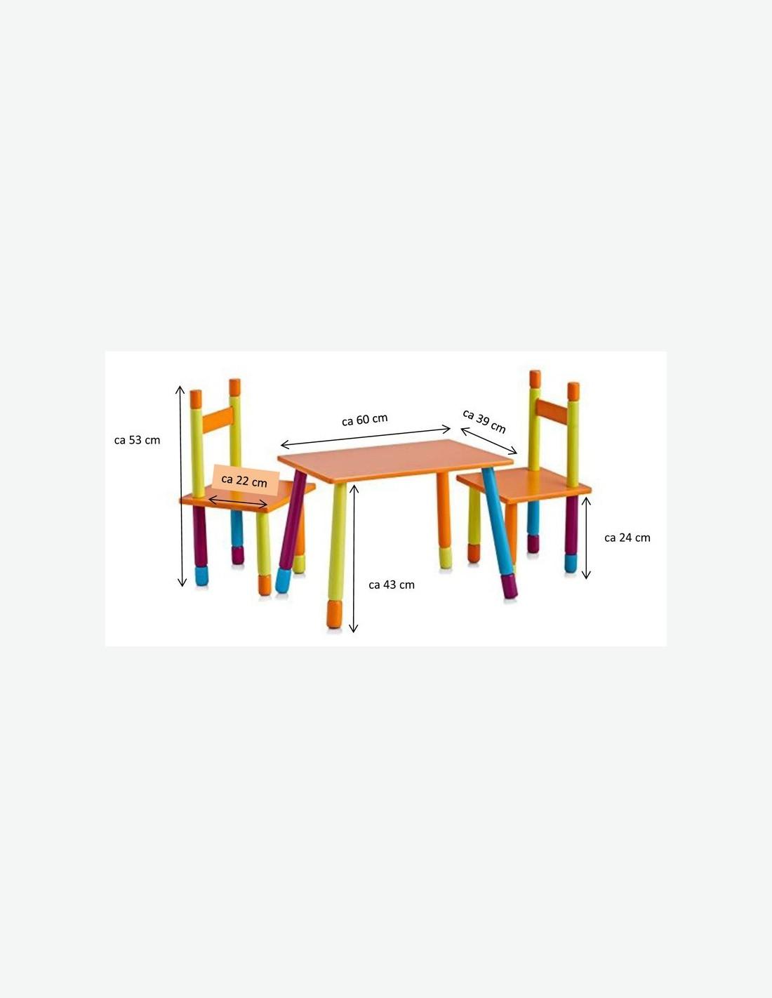 Tavolo con sedie per bambini 3 pezzi for Tavolo con sedie per soggiorno