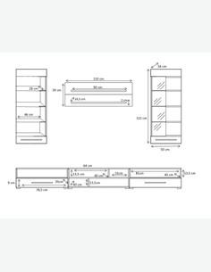 Alima - Zeitlos modernes Stauraumelement - jung und stilvoll - LED Beleuchtung inklusive - Maße
