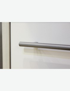 Julian - Waschbeckenunterschrank aus Pinie hell/weiß glanz Dekor - Detail