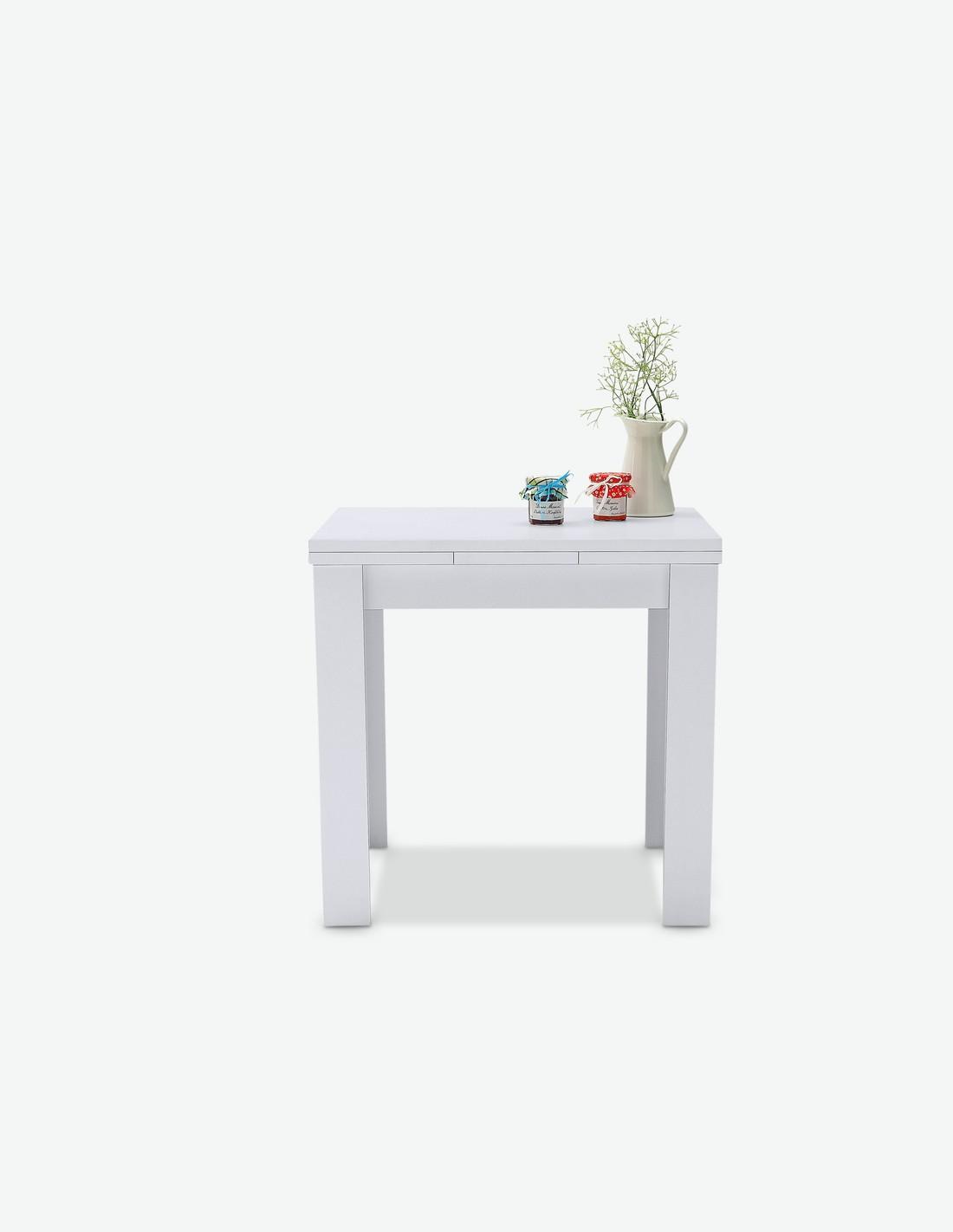 ausziehbarer esstisch in 2 verschiedenen farben verf gbar. Black Bedroom Furniture Sets. Home Design Ideas