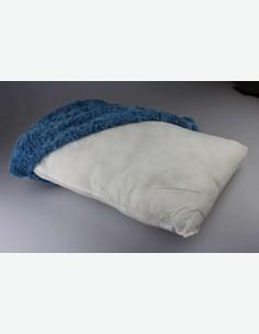 Bini - Cuscino,  molto comodo, 100 % poiestere, disponibile in diversi colori - blu - dettaglio
